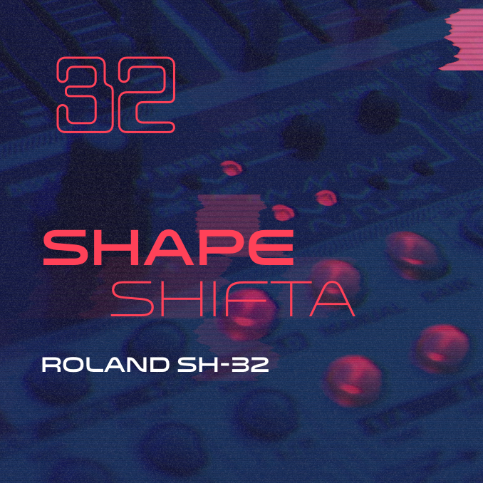 Shapeshifta sound bank artwork for the Roland SH-32